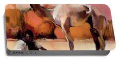 dsu and Said - Rann of Kutch  Portable Battery Charger by Mark Adlington