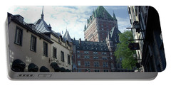 Portable Battery Charger featuring the photograph du Fort Chateau Frontenac by John Schneider