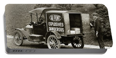 Du Pont Co. Explosives Truck Pennsylvania Coal Fields 1916 Portable Battery Charger