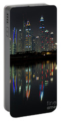 Dubai City Skyline Nighttime  Portable Battery Charger