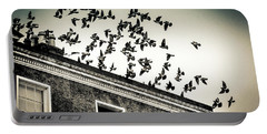 Flight Over Oscar Wilde's Hood, Dublin Portable Battery Charger