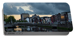 Dublin Sky At Sunset Portable Battery Charger