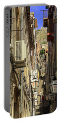 Portable Battery Charger featuring the photograph Dubrovnik Side Street  by Tony Murtagh