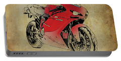 Ducati 1098s 2007, Original Artwork For Fathers Day Gift Portable Battery Charger