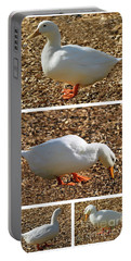 Portable Battery Charger featuring the mixed media Duck Collage Mixed Media A51517 by Mas Art Studio
