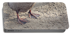 Portable Battery Charger featuring the photograph Duck Feet In The Sand by Cindy Garber Iverson
