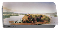 Duck Hunters On The Hoboken Marshes, New Jersey, 1849 Portable Battery Charger