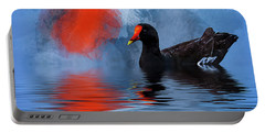 Duck In A Pond Portable Battery Charger by Cyndy Doty
