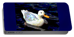 Duck In Water Portable Battery Charger by Charles Shoup