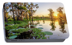 Portable Battery Charger featuring the photograph Duck Lake Sunrise by Andy Crawford