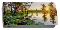 Duck Lake Sunrise Portable Battery Charger by Andy Crawford