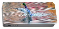 Duck On An Autumn Pond In The Chesapeake Bay Maryland Portable Battery Charger