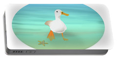 Duck Paddling At The Seaside Portable Battery Charger