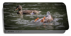 Portable Battery Charger featuring the photograph Duck Soup by Ray Congrove