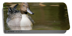 Duck Swimming, Front Portrait. Portable Battery Charger
