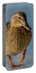 Duck Walk On Ice Portable Battery Charger