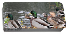Ducks By The Pond Portable Battery Charger