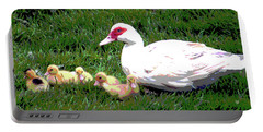 Ducks Portable Battery Charger by Charles Shoup