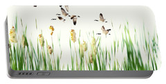 Ducks In Flight - Migration  Portable Battery Charger by Andrea Kollo