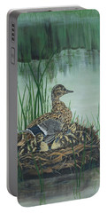 Ducks In Lifting Fog Portable Battery Charger
