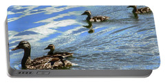 Ducks Portable Battery Charger by Stephanie Moore