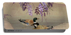 Ducks Under Wisteria Tree Portable Battery Charger