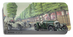 Duel At Pontlieu, Le Mans, 1930  Portable Battery Charger