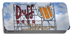 Portable Battery Charger featuring the photograph Duff Beer Sign by Wade Brooks
