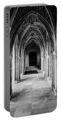 Duke Chapel Archways In Black And White Portable Battery Charger