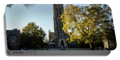Duke Chapel At Sunset Portable Battery Charger