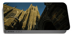 Duke Chapel Shadows And Golden Sunset Portable Battery Charger