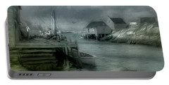 Dull Fall Day In Peggys Cove Portable Battery Charger