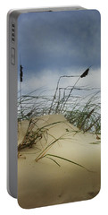 Dune And Beach Grass Portable Battery Charger by Randall Nyhof