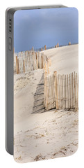 Dune Fence Portrait Portable Battery Charger