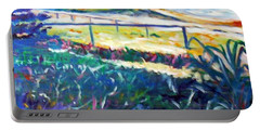 Portable Battery Charger featuring the painting Dune Grasses by Winsome Gunning