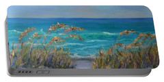 Dunes Path Ocean Painting Part 1 Portable Battery Charger