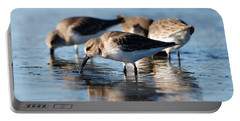 Dunlin Sandpipers At The Shoreline Portable Battery Charger