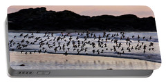 Dunlins In Flight Portable Battery Charger