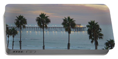Dusk At The Pier Portable Battery Charger by Suzanne Oesterling