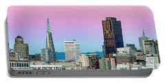 Portable Battery Charger featuring the photograph Dusk In San Francisco by Bill Gallagher
