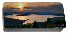 Portable Battery Charger featuring the photograph Dusk, Mooselookmeguntic Lake, Rangeley, Maine -63362-63364 by John Bald