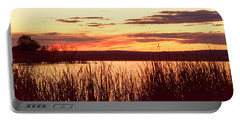 dusk on Lake Superior Portable Battery Charger
