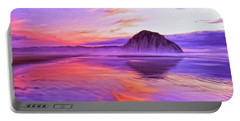 Dusk On The Morro Strand Portable Battery Charger