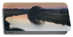 Portable Battery Charger featuring the photograph Dusk On The River Rother by Perry Rodriguez