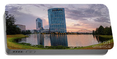 Dusk Panorama Of The Woodlands Waterway And Anadarko Petroleum Towers - The Woodlands Texas Portable Battery Charger