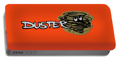 Portable Battery Charger featuring the photograph Duster Emblem by Mike McGlothlen