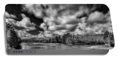 Portable Battery Charger featuring the photograph Dusting Of Snow On The River by David Patterson