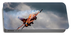 Dutch F16 Take Off At Waddington Portable Battery Charger
