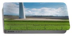 Dutch Landscape With Windmill Portable Battery Charger