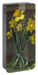 Dutch Master Narcissus In An Hourglass Vase Portable Battery Charger